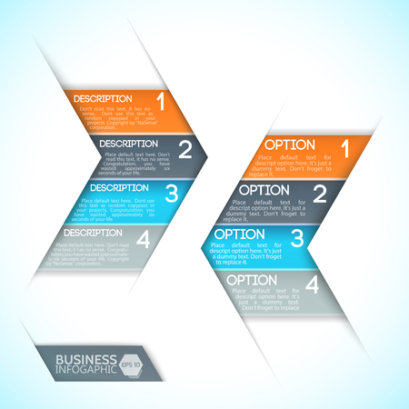 Ilustración de Infographics design template. - Imagen libre de derechos
