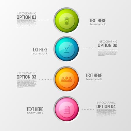Illustration pour Colorful Business Circles Background - image libre de droit