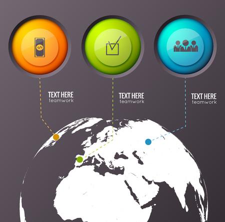Illustration pour Business Worldwide Concept Background - image libre de droit