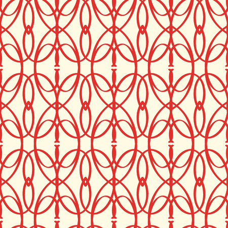 Illustration pour Abstract Vector Seamless Red Elements Pattern - image libre de droit