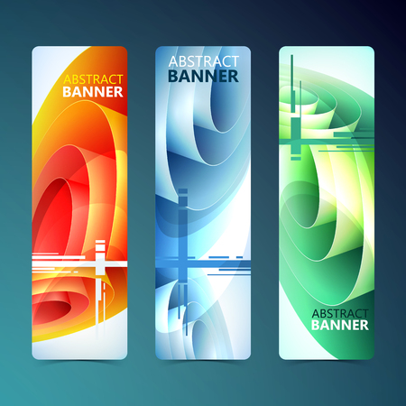 Ilustración de Abstract Clean Vertical Banners. - Imagen libre de derechos