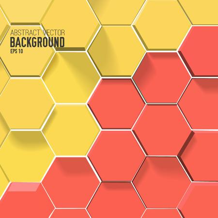 Photo pour Hexagons Abstract Background - image libre de droit