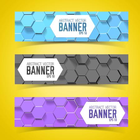 Ilustración de Pentagon Banner Set - Imagen libre de derechos