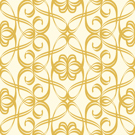 Illustration pour Abstract Seamless Undisciplined Style Gold Pattern - image libre de droit