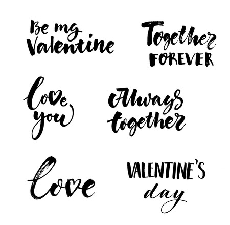Illustration for Love And Valentines Day Inscriptions Collection - Royalty Free Image
