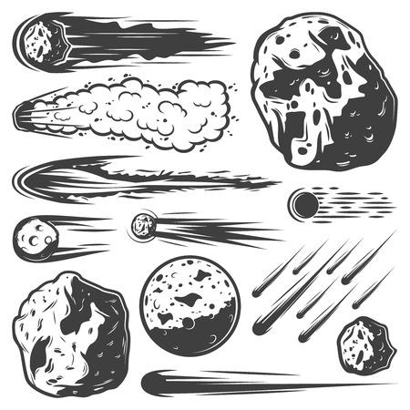Ilustración de Vintage Meteors Collection - Imagen libre de derechos