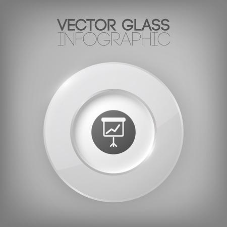 Illustration pour Business Infographic Concept With Circle Element - image libre de droit
