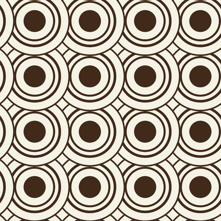 Illustration pour Abstract geometric seamless pattern composed of identical black and white circles - image libre de droit