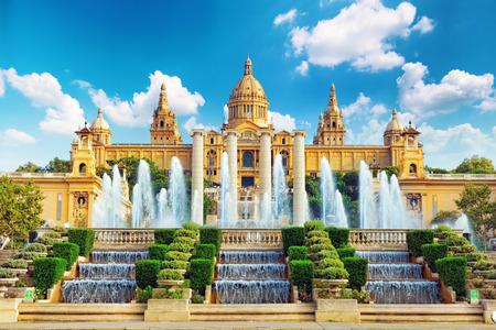 Photo pour National Museum in Barcelona,Placa De Espanya,Spain. - image libre de droit