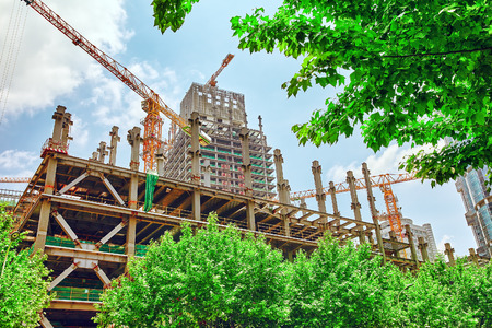 Photo for Skyscraper Building under construction in summer day. - Royalty Free Image