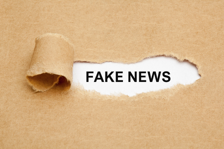 Photo for Fake News Torn Paper Concept - Royalty Free Image