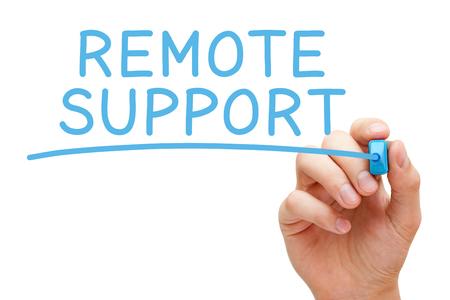 Foto de Remote Support Blue Marker - Imagen libre de derechos