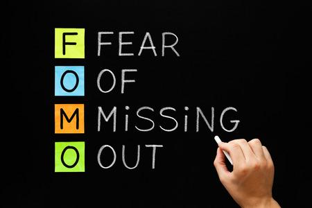 Foto de FOMO - Fear Of Missing Out Concept - Imagen libre de derechos