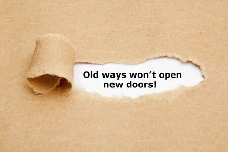 Foto de Old Ways Will Not Open New Doors Quote - Imagen libre de derechos