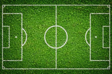 Closeup image of natural green grass soccer field
