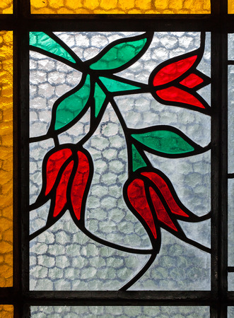Foto de The art of multicolored stained glass window for interior design - Imagen libre de derechos
