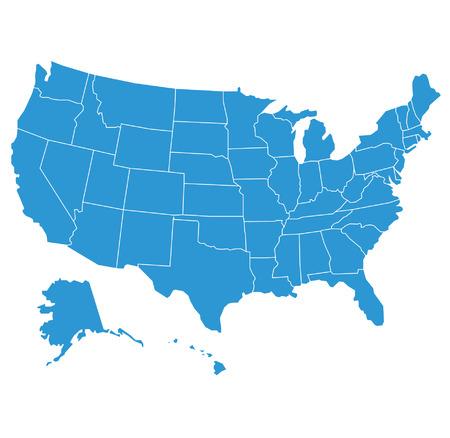 Illustration pour united states of america map illustration - image libre de droit