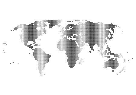Illustration pour world map illustration - image libre de droit