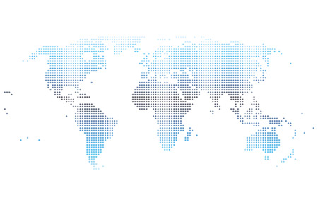 dotted world map gradient