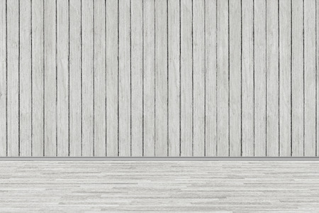 Photo for room perspective, wood room texture wall and wooden plank grou - Royalty Free Image