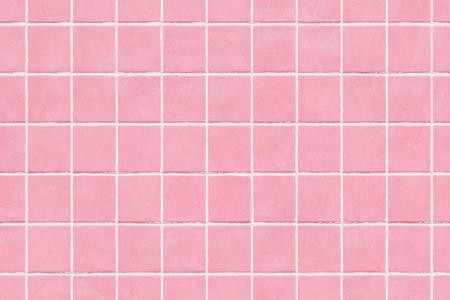 Photo pour Pink tile wall texture background, colored mosaic background tiles - image libre de droit