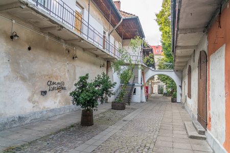 Photo for Alley in Krakow used as filmset in Schindlers List - Royalty Free Image