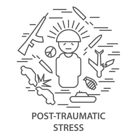 Illustration pour Banners for PTSD - image libre de droit