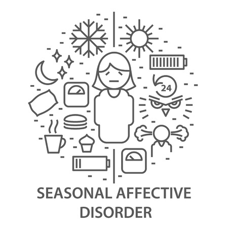 Illustration for Banners for seasonal affective disorder - Royalty Free Image