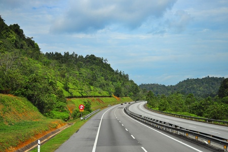 Scenic view of Highway in Malaysia