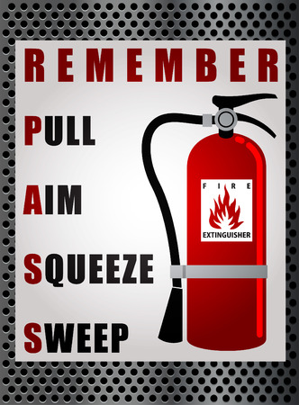 Illustration for FIRE EXTINGUISHER LABEL - Royalty Free Image