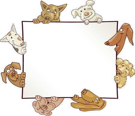 frame with funny dogs