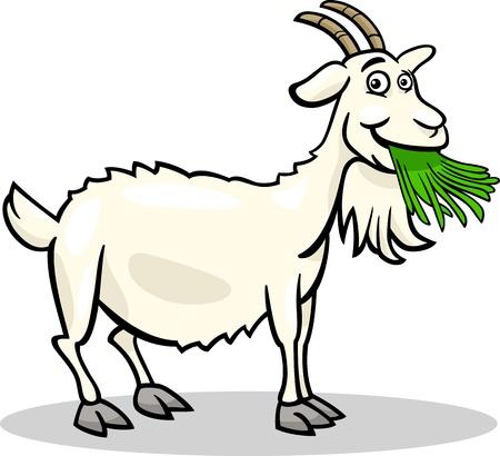 Illustration for Cartoon Illustration of Funny Goat Farm Animal - Royalty Free Image