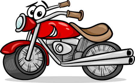 Illustration pour Funny cartoon Motor Bike Vehicle - image libre de droit
