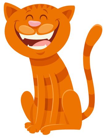 Illustrazione per Cartoon Illustration of Funny Cat Animal Mascot Character - Immagini Royalty Free