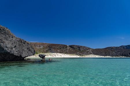 Foto de Balandra beach suspended mushroom rock mexico baja california sur - Imagen libre de derechos