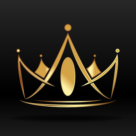 Illustration for Gold crown vector graphic - Royalty Free Image