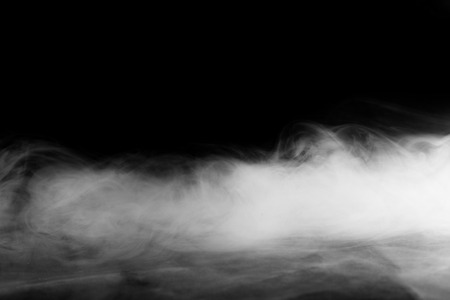 Photo for Abstract fog or smoke move on black color background - Royalty Free Image