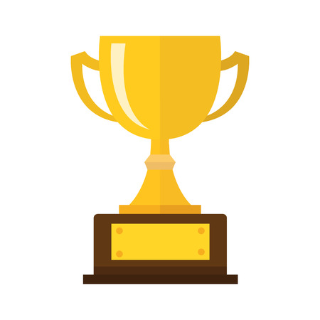Illustration pour Vector Trophy Cup Flat Icon - image libre de droit