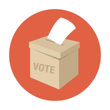 Illustration pour Ballot box or vote box. Flat style - image libre de droit