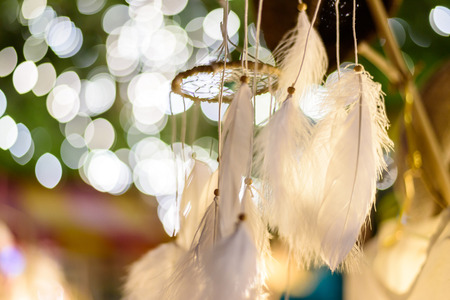 Photo for dream catcher with bokeh lights background at night - Royalty Free Image