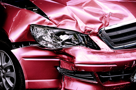 Foto de Red Car crash background - Imagen libre de derechos