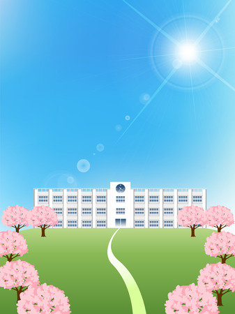 Cherry school spring background
