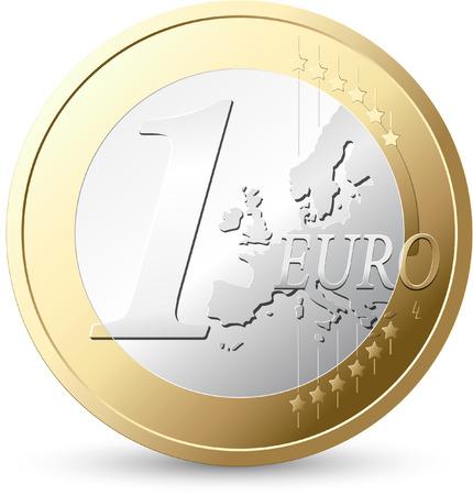 Ilustración de 1 Euro - European currency - Imagen libre de derechos