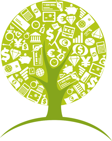 Foto de Business tree - economic growth concept - Imagen libre de derechos