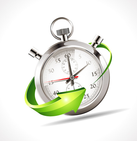 Illustration pour Stopwatch - speed up time - image libre de droit