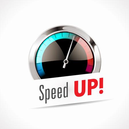 Ilustración de Speedometer - Speed Up! - Imagen libre de derechos
