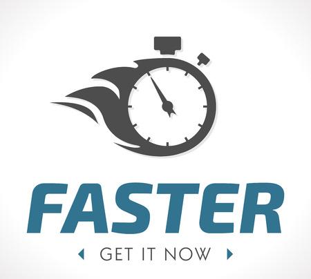 Ilustración de Faster logo - Imagen libre de derechos