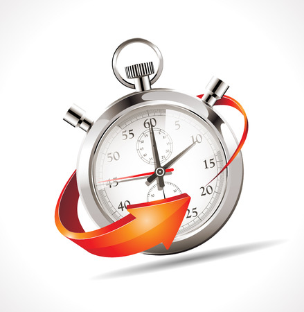 Illustration pour Stopwatch - turn back time - image libre de droit
