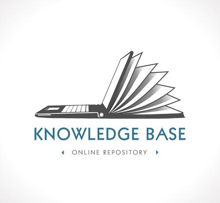Ilustración de Logo - knowledge base - Imagen libre de derechos