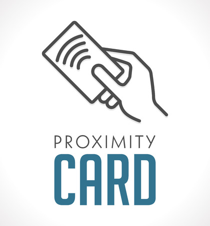 Illustration pour Logo - Proximity Card - Wireless RFID concept - image libre de droit
